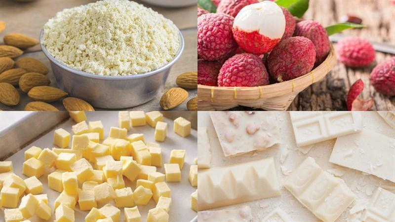 Nguyên liệu món ăn bánh macaron vải