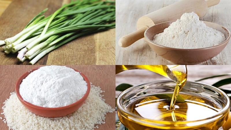 Nguyên liệu món ăn bánh nghệ gò công