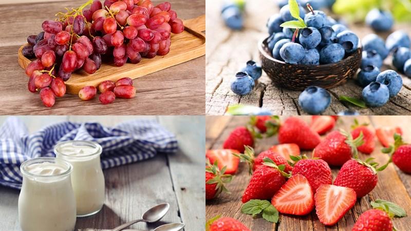 Nguyên liệu món ăn sinh tố nho