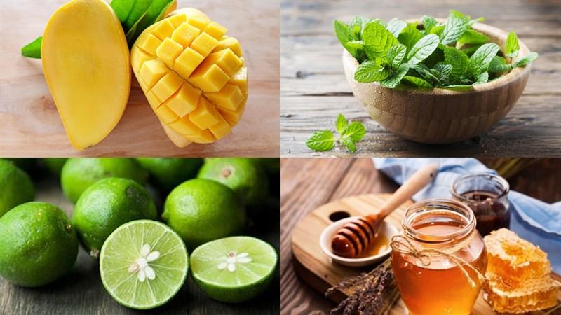 Nguyên liệu món ăn mojito xoài - mango mojito