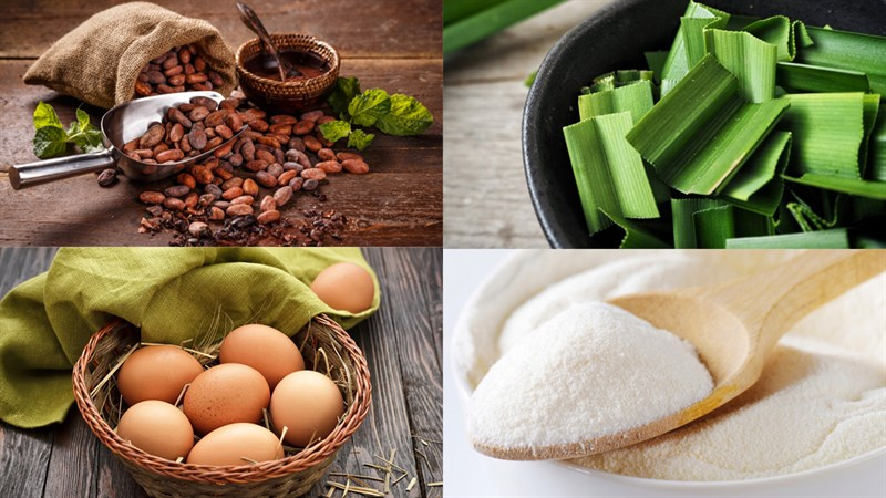 Nguyên liệu món ăn rau câu flan nhiều lớp