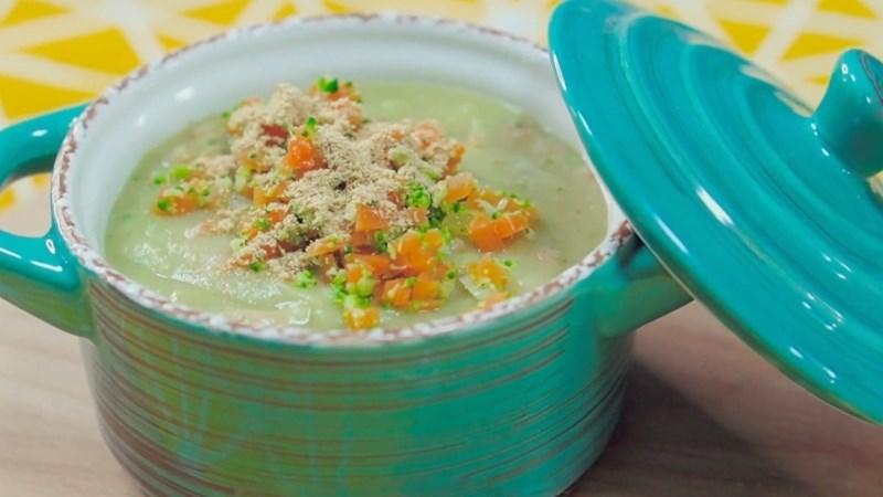 Bữa chiều: Súp khoai lang rau củ