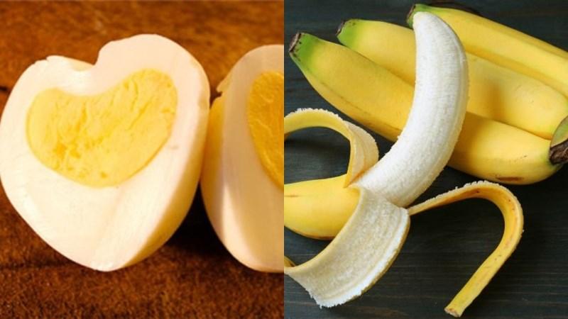 Bữa sáng: 2 quả trứng luộc, 1 quả chuối