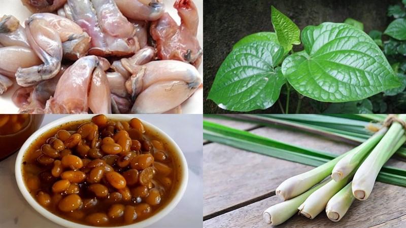 Nguyên liệu món ăn cách làm ếch nướng lá lốt