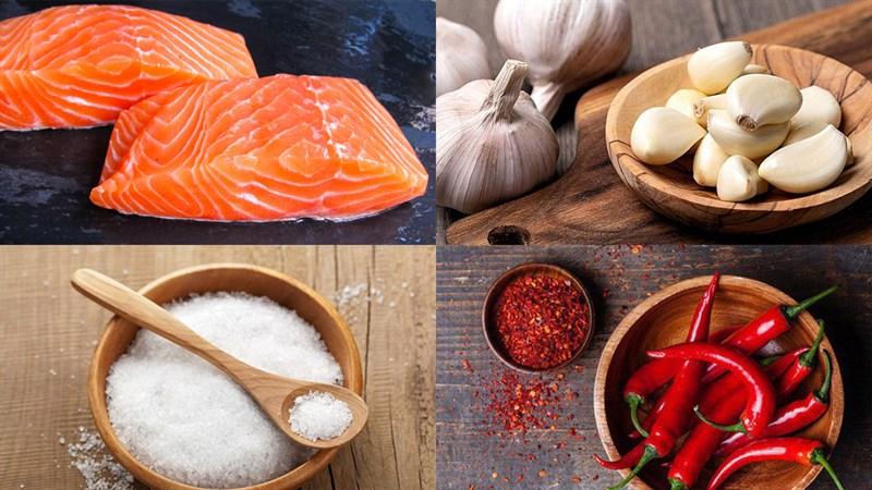 Nguyên liệu món ăn khô cá hồi