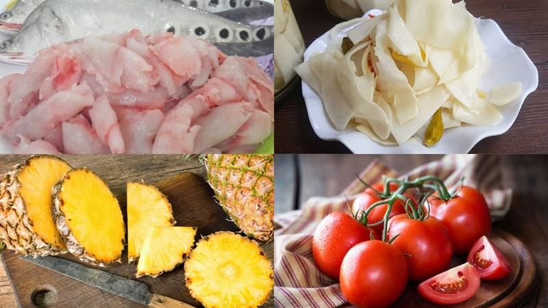 Nguyên liệu món ăn canh măng chua cá thác lác