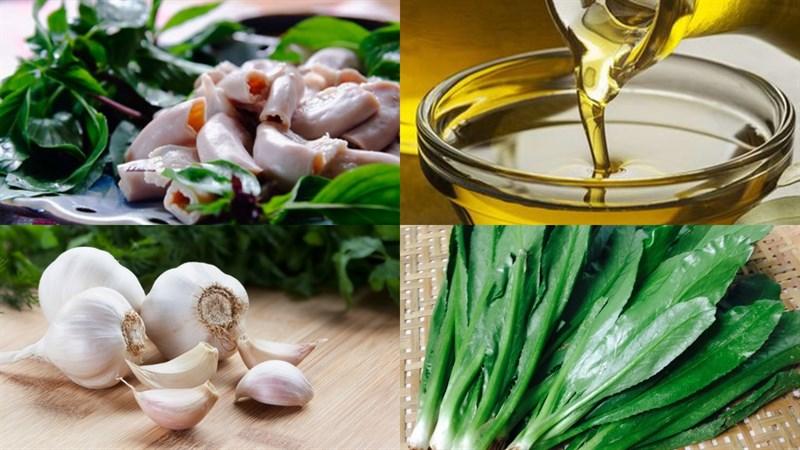 Nguyên liệu món ăn 2 cách làm lòng dê xào dứa và xào rau răm
