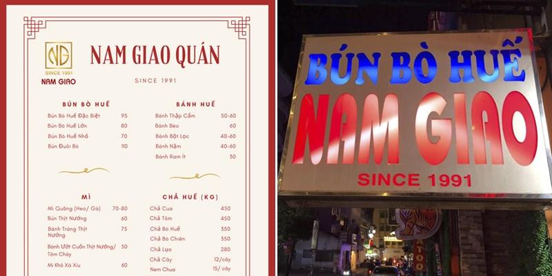 Quán Bún Bò Nam Giao