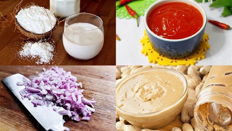 Nguyên liệu món ăn nước chấm nem nướng nha trang