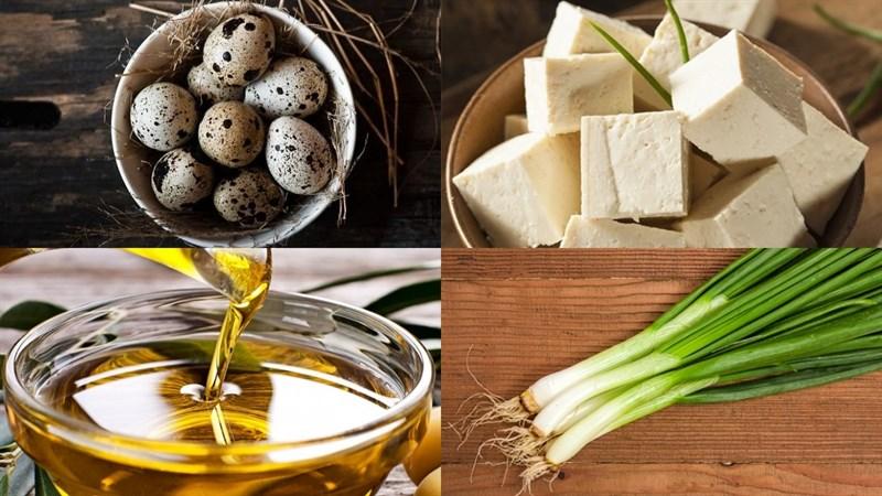 Nguyên liệu món ăn cách làm trứng cút kho đậu hũ