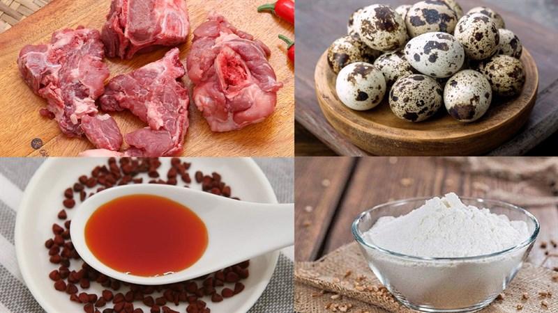 Nguyên liệu món ăn cháo canh nghệ an xương heo