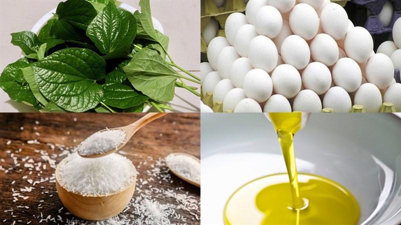 Nguyên liệu món ăn lá lốt xào trứng