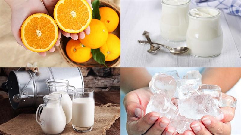 Nguyên liệu món ăn sinh tố cam