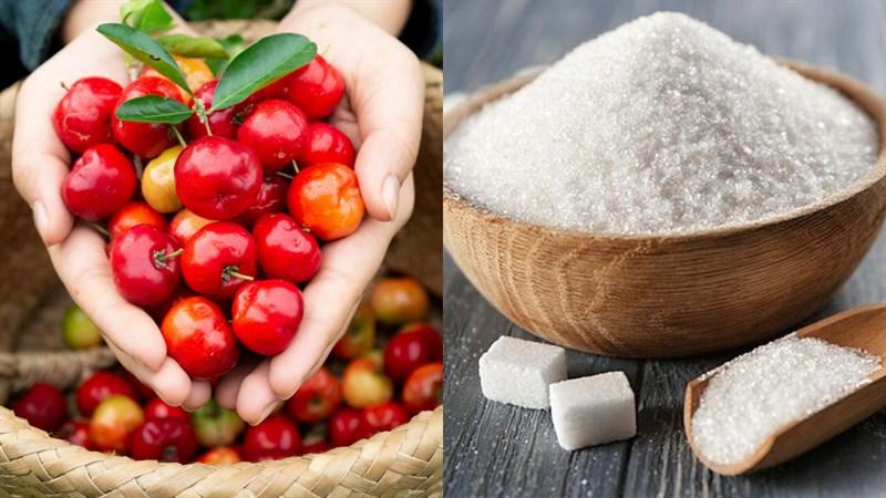 Nguyên liệu món ăn nước ép sơ ri