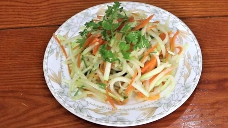 Su hào xào cà rốt