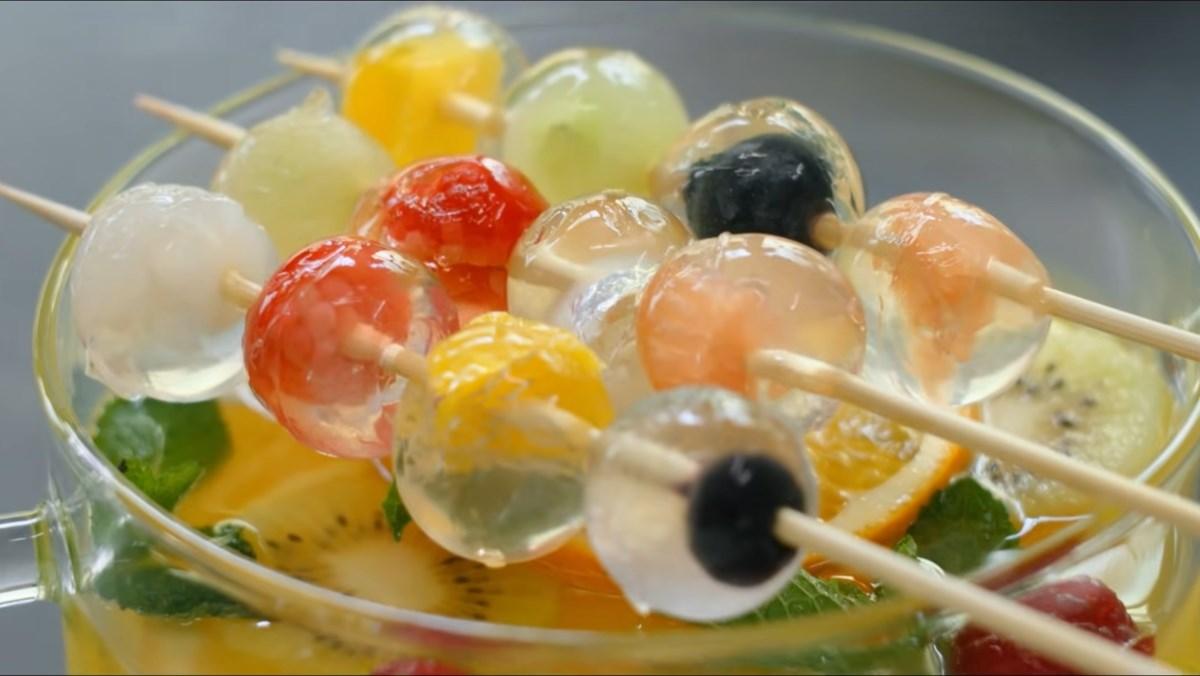 Thạch rau câu viên bi hoa quả