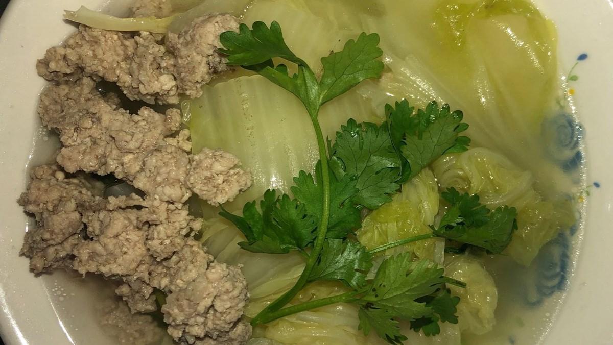 Canh cải thảo thịt bằm