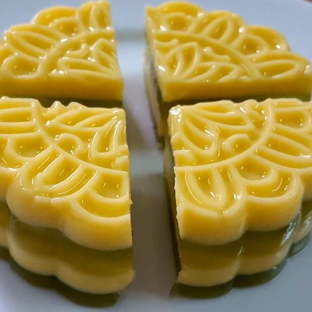 bánh trung thu rau xanh câu sữa ngô lá dứa