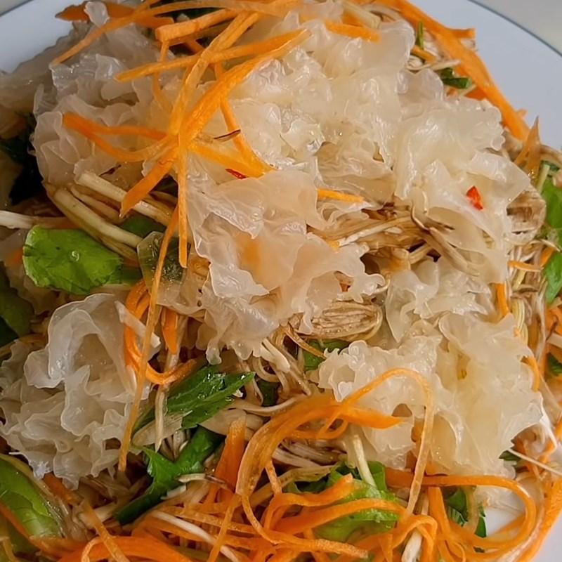 Bước 4 Làm nước trộn gỏi Gỏi nấm tuyết chay cà rốt bắp chuối