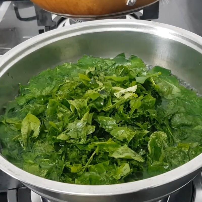 Bước 2 Nấu canh Canh rau ngót chay đậu hũ chả chay