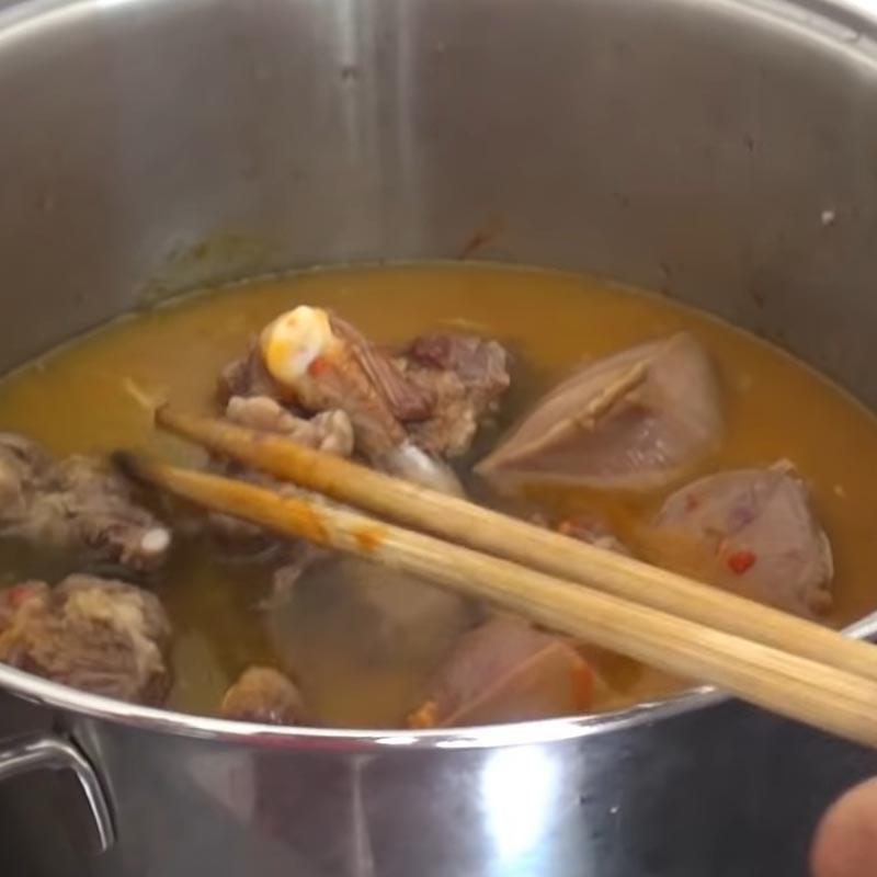 Bước 7 Nấu lagu Lưỡi bò nấu lagu