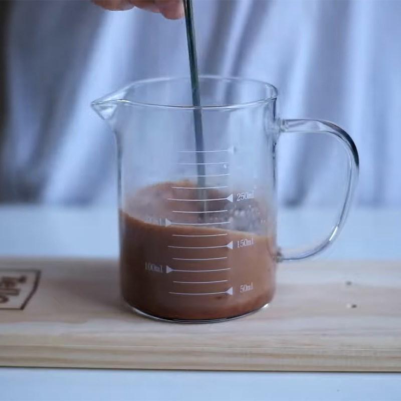 Bước 2 Pha trà sữa milo Trà sữa milo