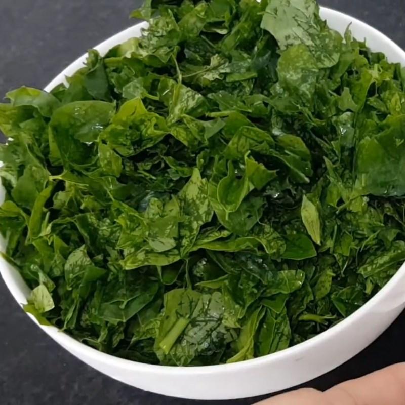 Bước 1 Sơ chế các nguyên liệu Canh rau ngót chay đậu hũ chả chay