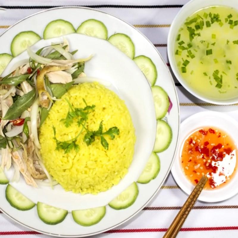 Bước 7 Thành phẩm Cơm gà Phú Yên