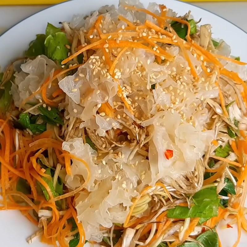 Bước 5 Thành phẩm Gỏi nấm tuyết chay cà rốt bắp chuối