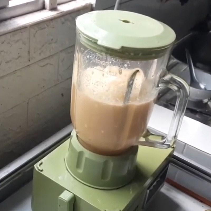 Bước 3 Xay hỗn hợp dưa gang Sữa chua dưa lưới