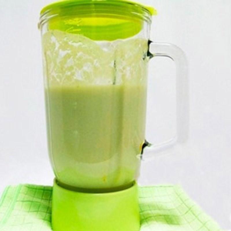 Bước 2 Xay hỗn hợp dưa lưới Sữa chua dưa lưới