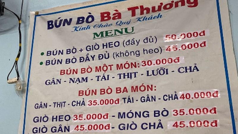Quán Bún Bò Huế Bà Thương