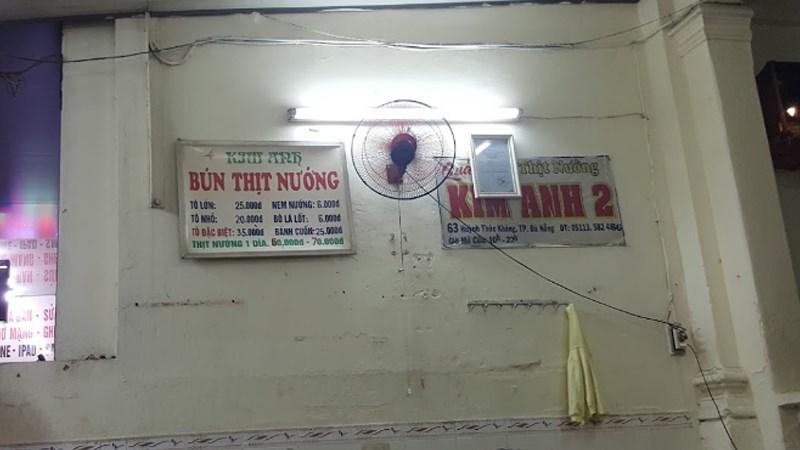 Quán Bún thịt nướng Kim Anh Gia truyền