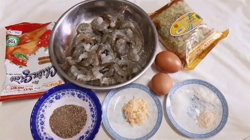 Nguyên liệu món ăn 2 cách làm tôm chiên cốm xanh