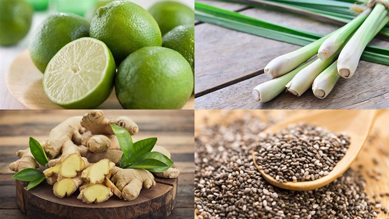 Nguyên liệu món ăn 2 cách làm nước chanh sả