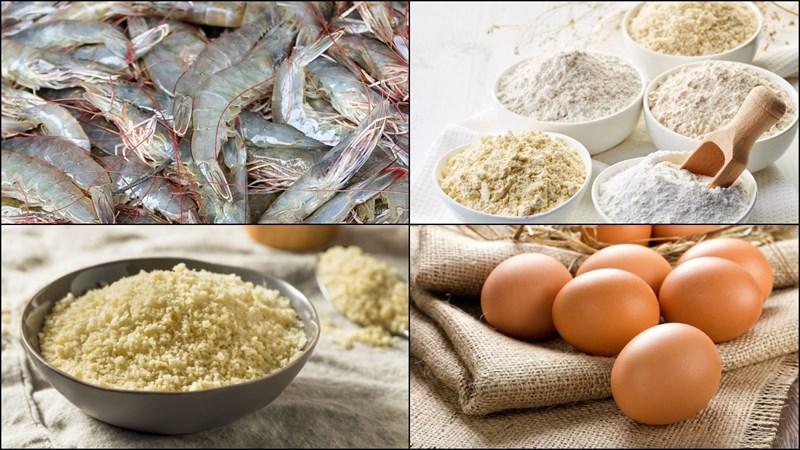 Nguyên liệu món ăn 2 cách làm tôm chiên xù