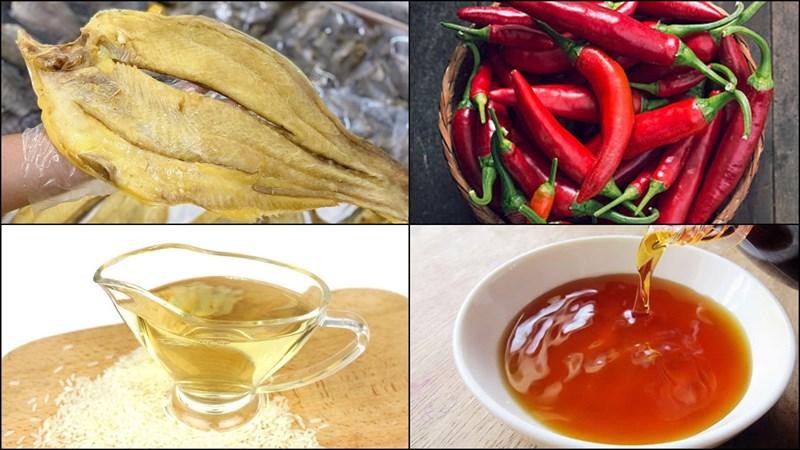 Nguyên liệu món ăn khô cá tra chiên giấm đường