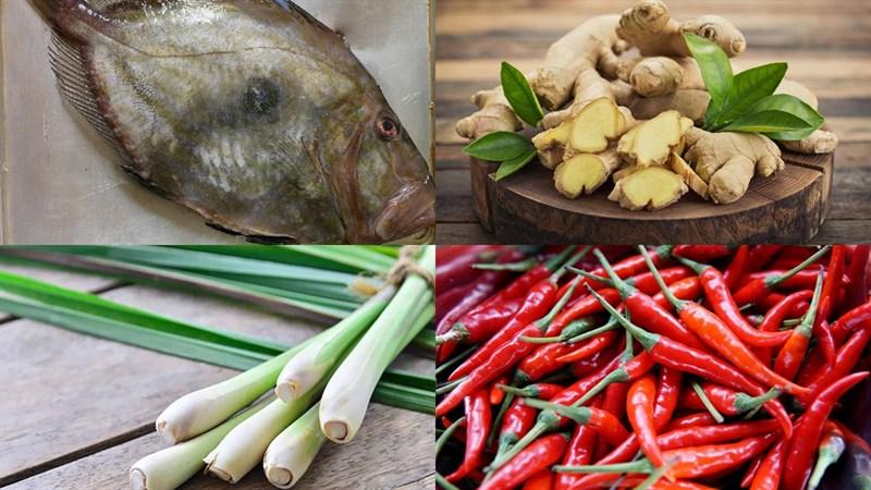 Nguyên liệu món ăn cá mặt trời nướng
