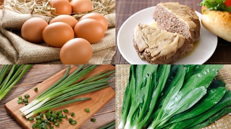 Nguyên liệu món ăn trứng chiên pate