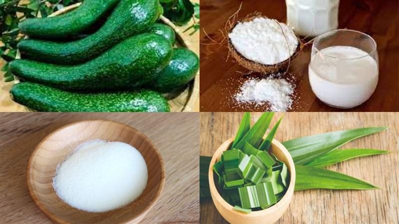 Nguyên liệu món ăn bánh flan nước cốt dừa