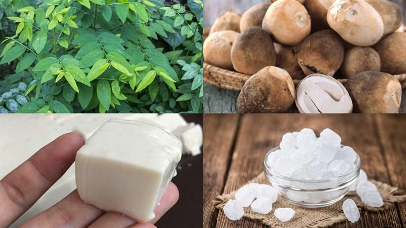 Nguyên liệu món ăn 2 cách nấu canh rau ngót chay đậu hũ