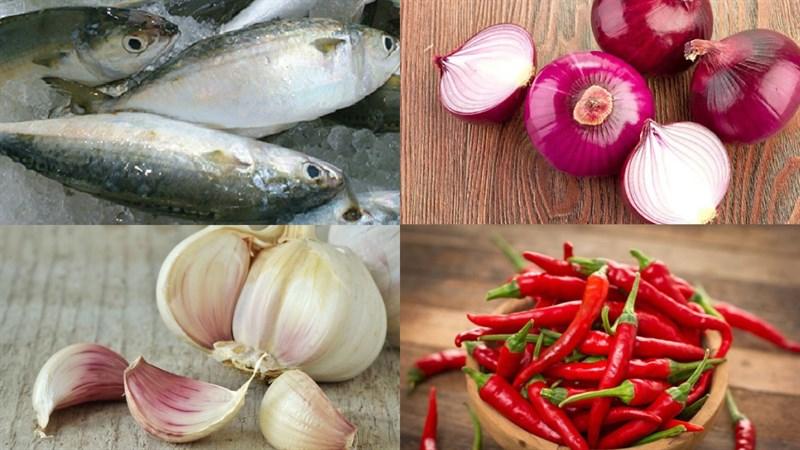Nguyên liệu món ăn cá bạc má kho tỏi ớt
