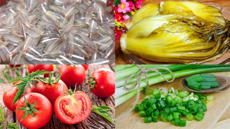 Nguyên liệu món ăn canh chua cá mai