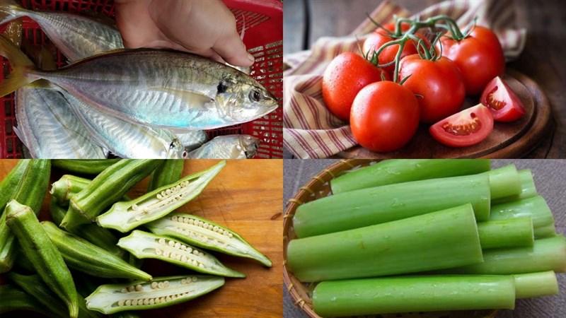 Nguyên liệu món ăn cá ngân nấu canh chua
