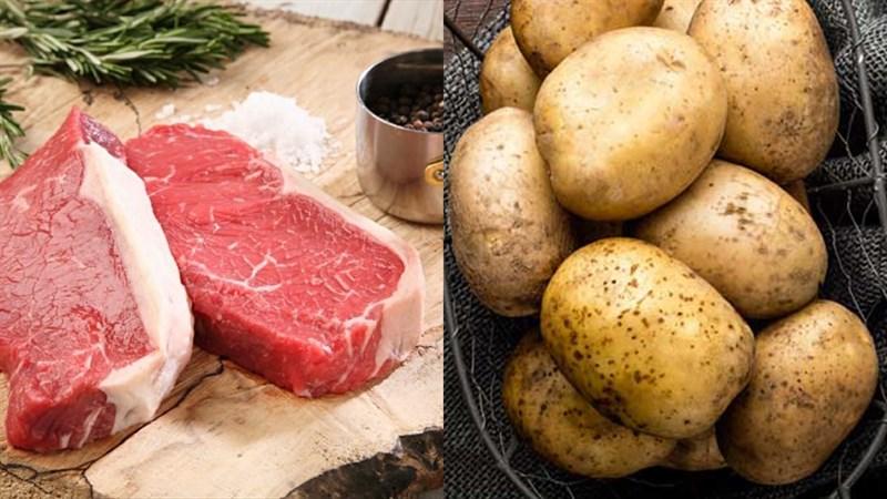 Nguyên liệu món ăn thịt bò xào khoai tây