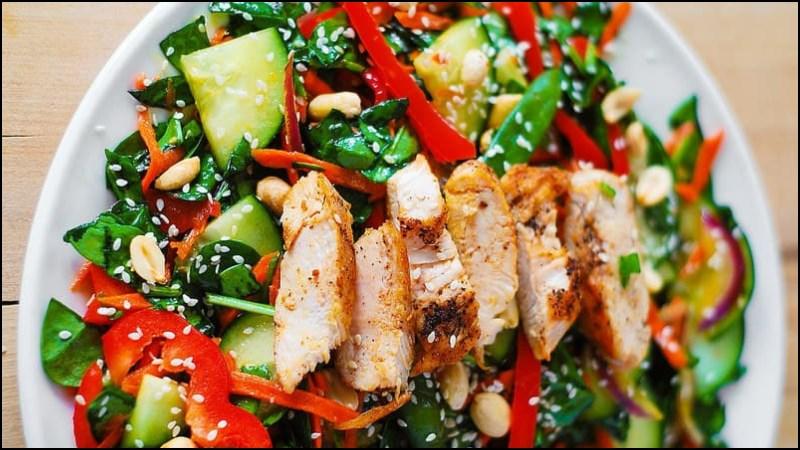 Sốt dầu mè trộn salad