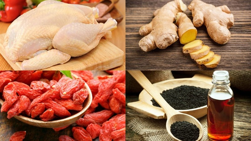 Nguyên liệu món ăn canh gà kiểu trung quốc