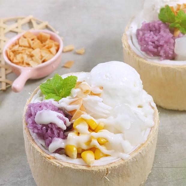 Kem xôi dừa Thái Lan