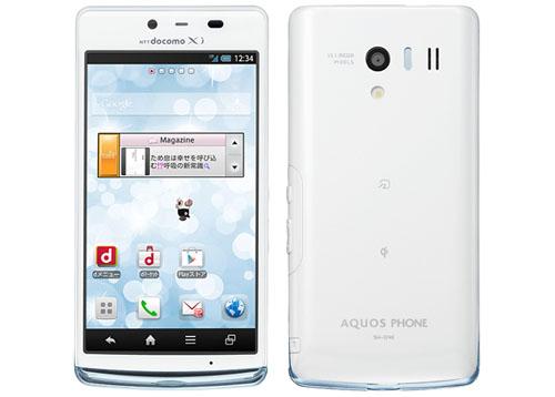 Aquos EX SH-04E màu trắng tinh tế