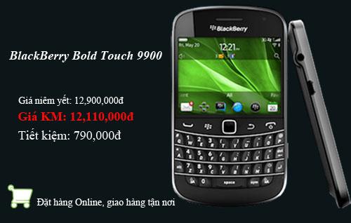BlackBerry Bold Touch 9900 khuyến mãi lên đến 1 triệu đồng